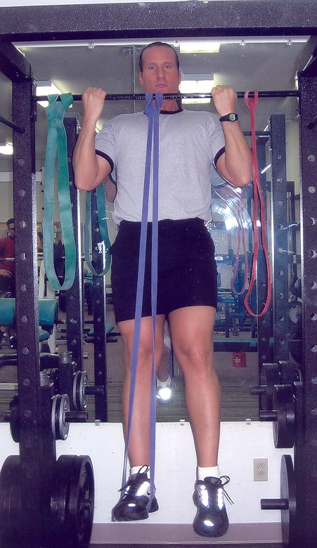 Assisted Chin Up. band-assisted pullups.